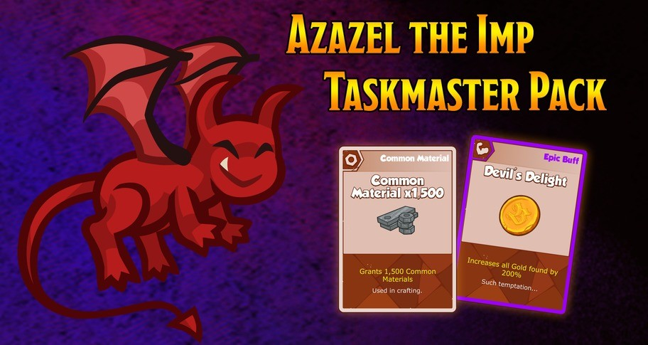 Crusaders of the Lost Idols: Azazel the Imp Taskmaster Pack