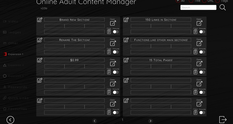 Online Adult Content Manager - Section Expansion 1