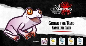 Idle Champions - Groak the Toad Familiar Pack