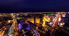 VR Helicopter Flight Close To Las Vegas Strip