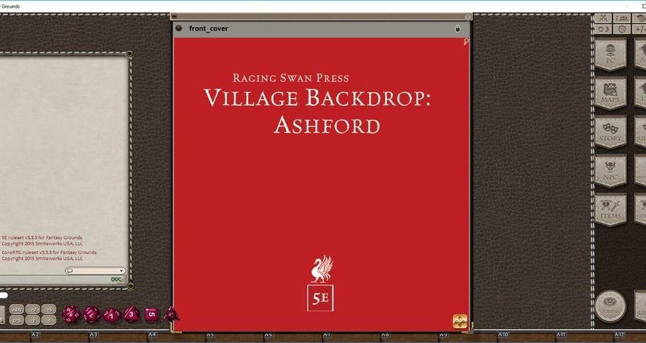 Fantasy Grounds - Village Backdrop: Ashford (5E)