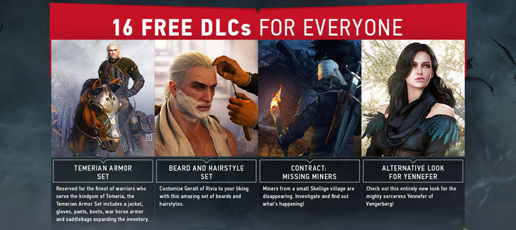 The Witcher 3 Wild Hunt Free Dlc Program Is Now Available