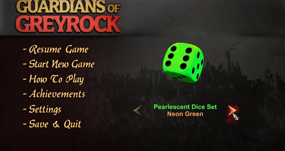 Guardians of Greyrock - Dice Pack: Pearlescent Set