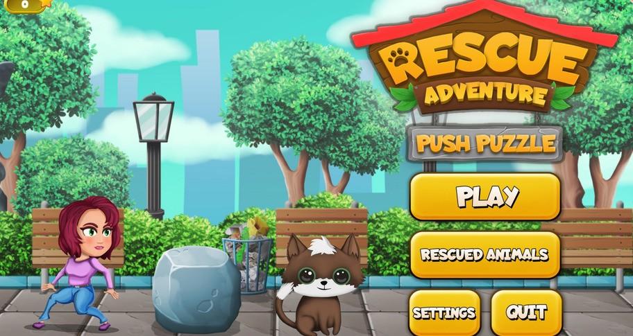 Push Puzzle - Rescue Adventure