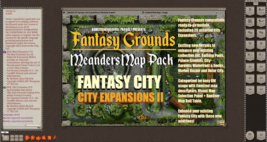 Fantasy Grounds - Meander Map Pack City Expansions II (Map Pack)