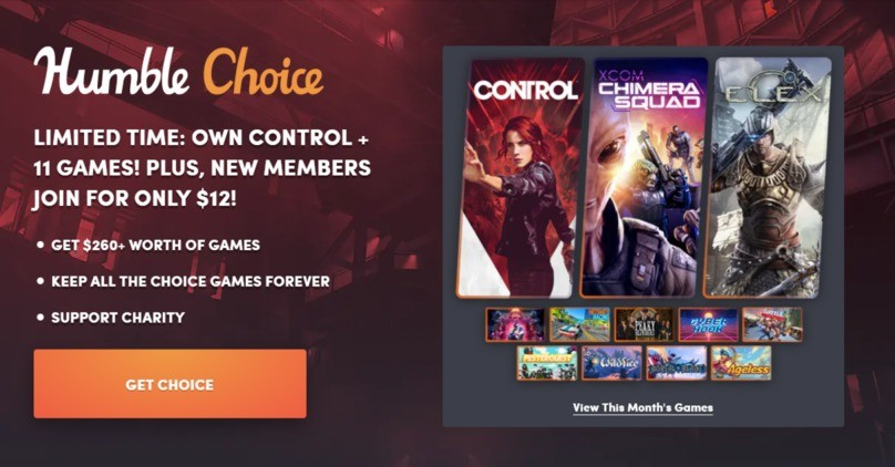 Humble Choice is available again for only $12.00/month for new subscribers!