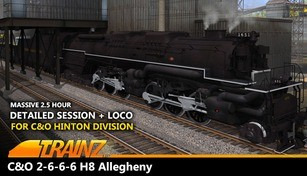 Trainz Driver DLC: C&O 2-6-6-6 H8 - New River Mining Coal Run