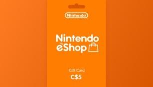 Nintendo eShop Gift Card 5 CAD