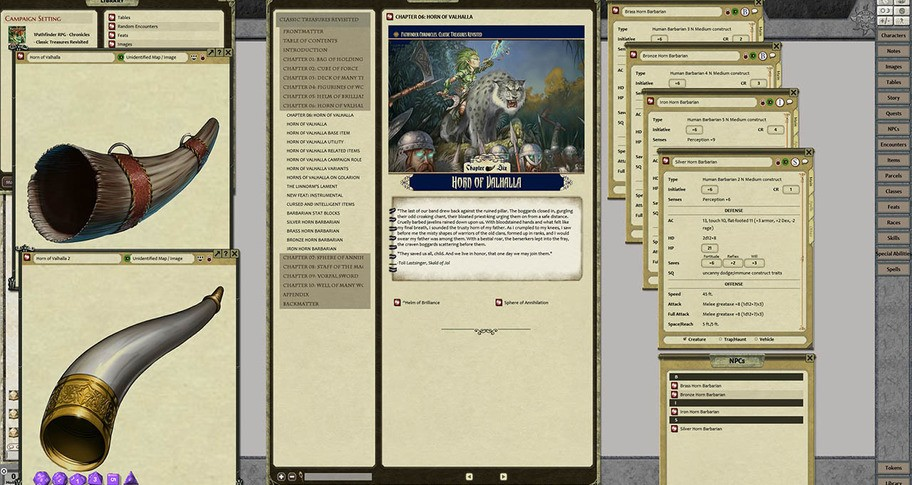 Fantasy Grounds - Pathfinder RPG - Chronicles: Classic Treasures Revisited