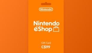 Nintendo eShop Gift Card 99 CAD