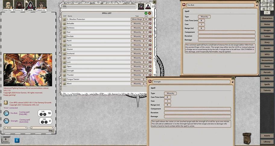 Fantasy Grounds - Advanced Fighting Fantasy 2E Ruleset