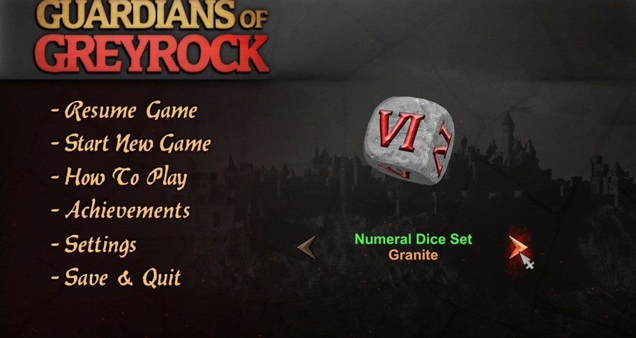 Guardians of Greyrock - Dice Pack: Numeral Set