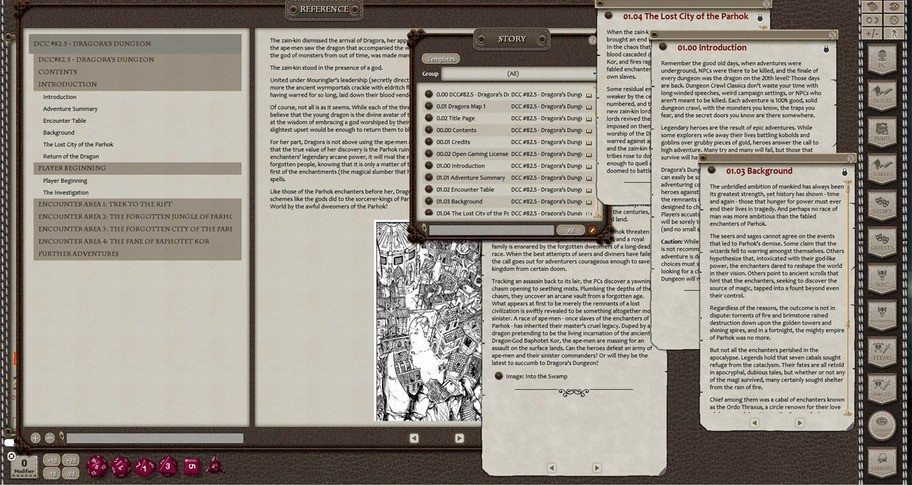 Fantasy Grounds - Dungeon Crawl Classics #82.5: Dragora's Dungeon