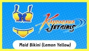 Kandagawa Jet Girls - Maid Bikini (Lemon Yellow)