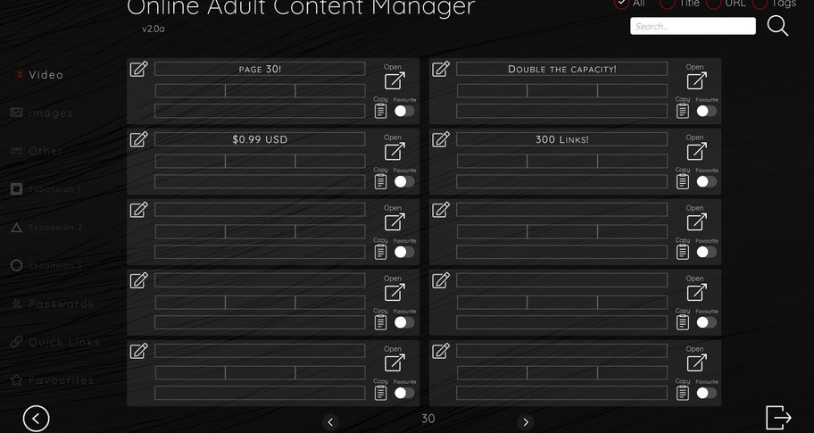 Online Adult Content Manager - Video Links Extension