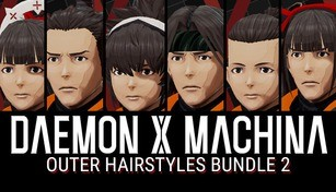 DAEMON X MACHINA - Outer Hairstyles Bundle 2