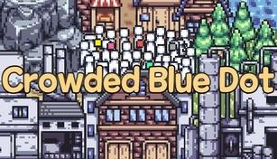 Crowded Blue Dot