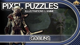 Pixel Puzzles Illustrations & Anime - Jigsaw Pack: Goblins