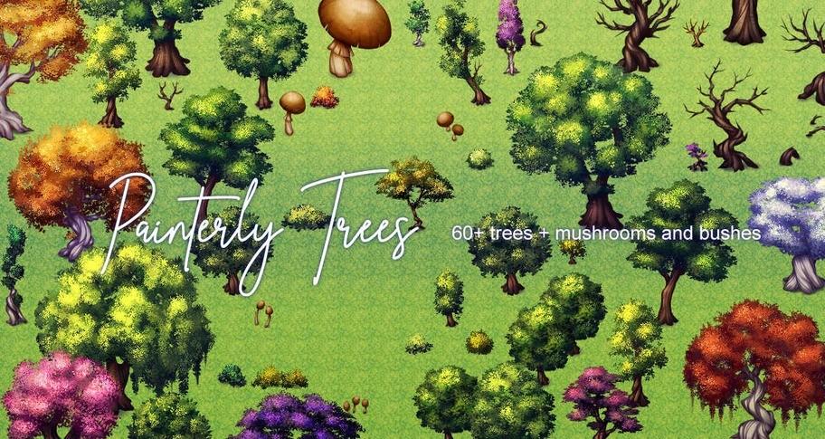 RPG Maker MV - Painterly Trees Asset Pack