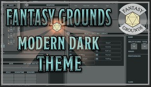 Fantasy Grounds - FG Theme - Modern Dark Theme