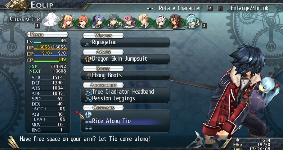 The Legend of Heroes: Trails of Cold Steel II - All Ride-Alongs