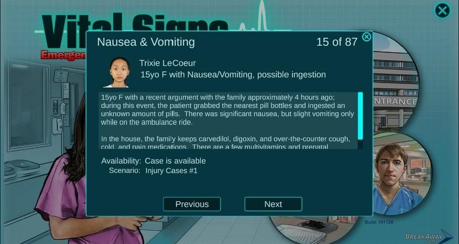 Vital Signs: ED - Injuries Package #1