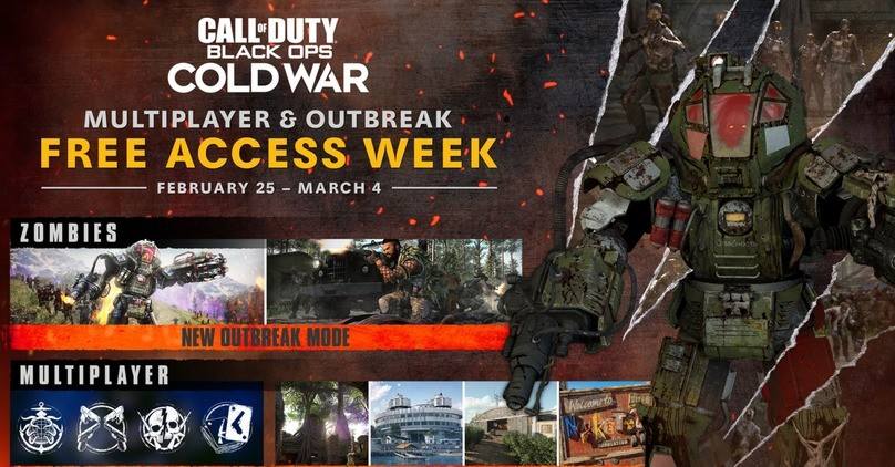 Free Week - Call of Duty: Black Ops Cold War Multiplayer & Outbreak
