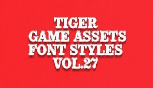 TIGER GAME ASSETS FONT STYLES VOL.27