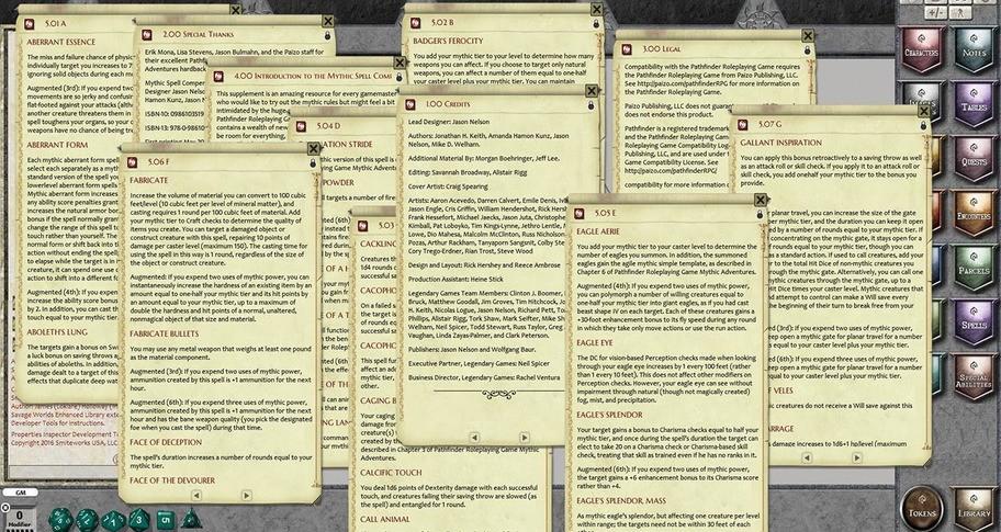 Fantasy Grounds - Mythic Spell Compendium