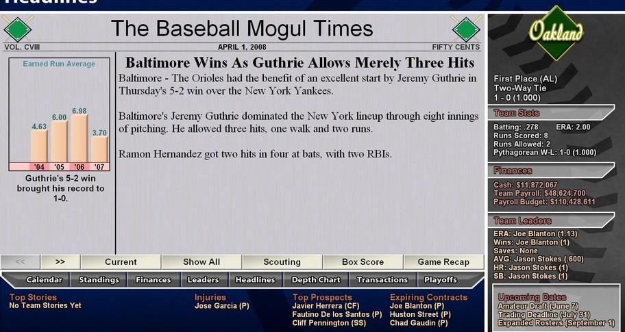 "Bill ""Spaceman"" Lee Baseball Mogul 2009"