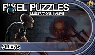 Pixel Puzzles Illustrations & Anime - Jigsaw Pack: Aliens