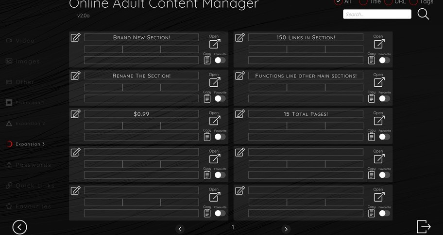 Online Adult Content Manager - Section Expansion 3