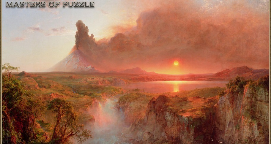 Masters of Puzzle - Cotopaxi by F. E. Church