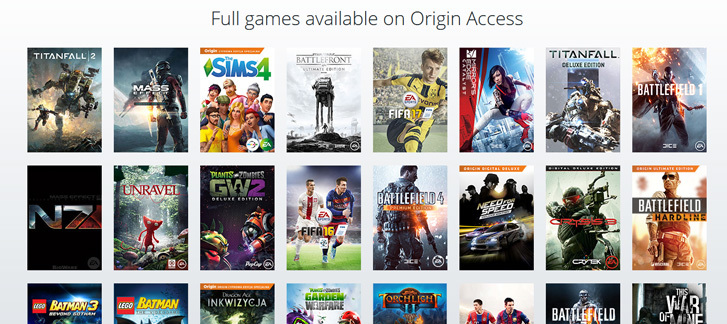 Try Origin Access FREE for 7 days!
