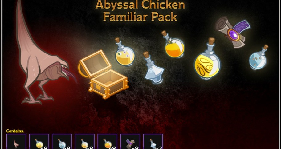 Abyssal Chicken Familiar Pack