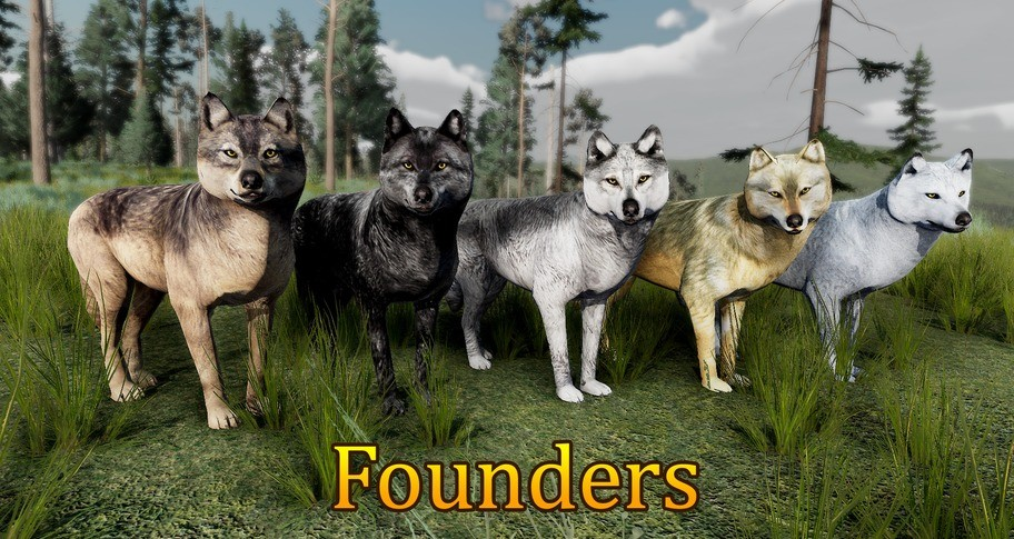 WolfQuest: Anniversary - Yellowstone Wolf Coat Pack