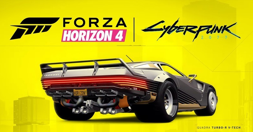 The most iconic Cyberpunk 2077 car is now FREE in Forza Horizon 4