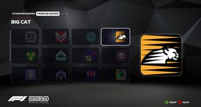 F1 2019: Badge 'Big Cat'