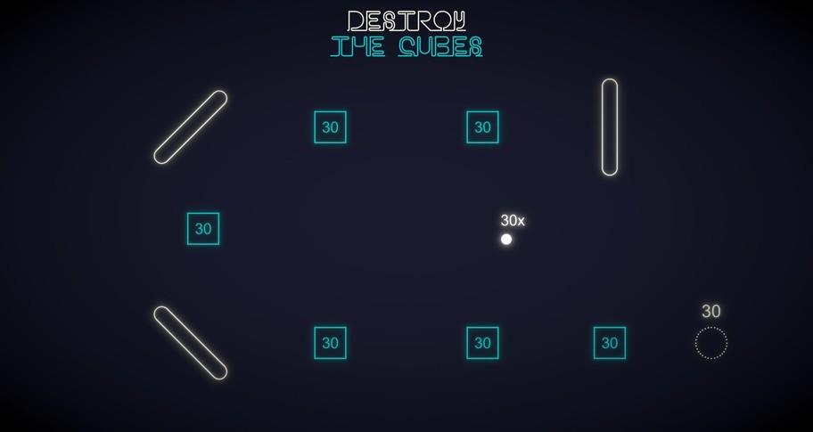 Destroy The Cubes - Minimalist Puzzle