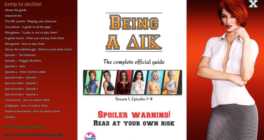 Being a DIK:  Season 1 - The complete official guide