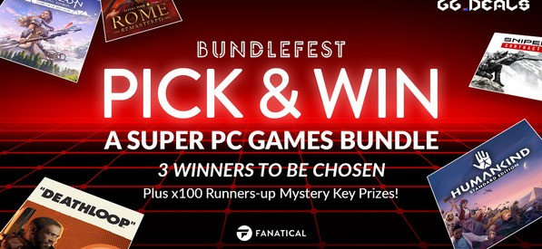 Giveaway: 3 Super PC Games Bundles and 100 Mystery Keys from Fanatical!