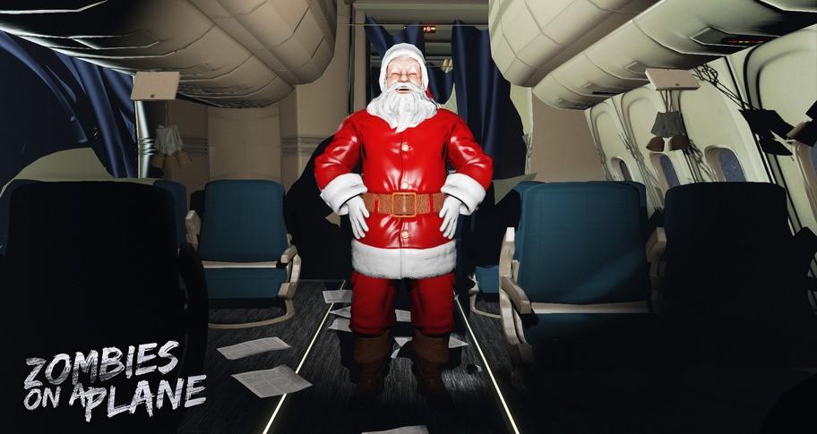 Zombies on a Plane - Santa