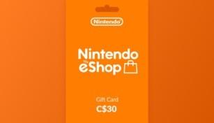 Nintendo eShop Gift Card 30 CAD