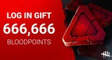 Get 666,666 Bloodpoints for Dead by Daylight!