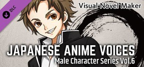 Visual Novel Maker - Japanese Anime Voices:Male Character Series Vol.6