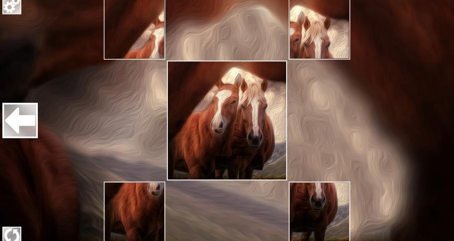 Puzzle Art: Horses