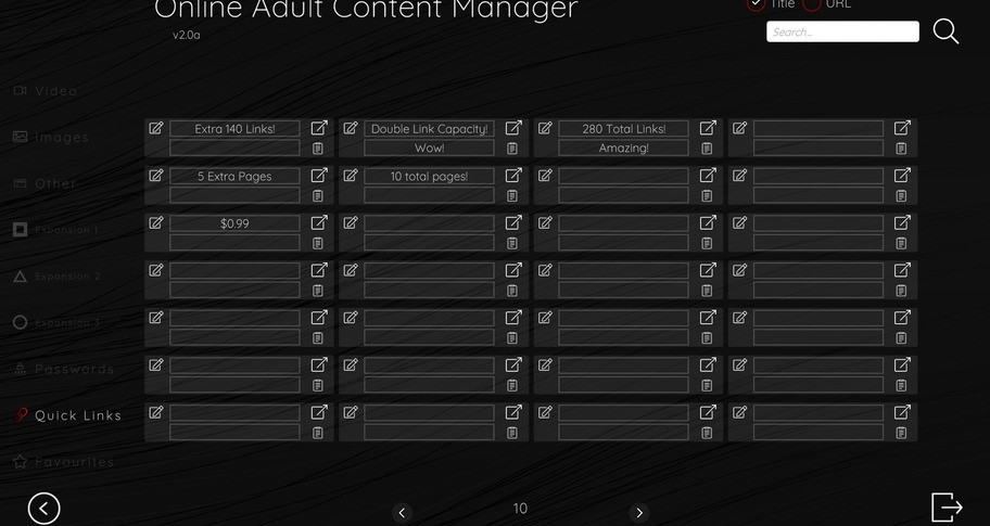 Online Adult Content Manager - Quick Links Extension