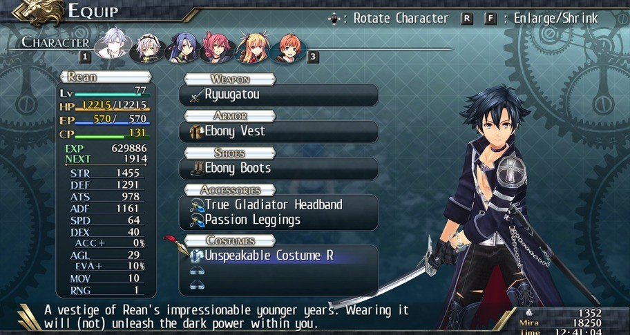 The Legend of Heroes: Trails of Cold Steel II - Unspeakable Costumes