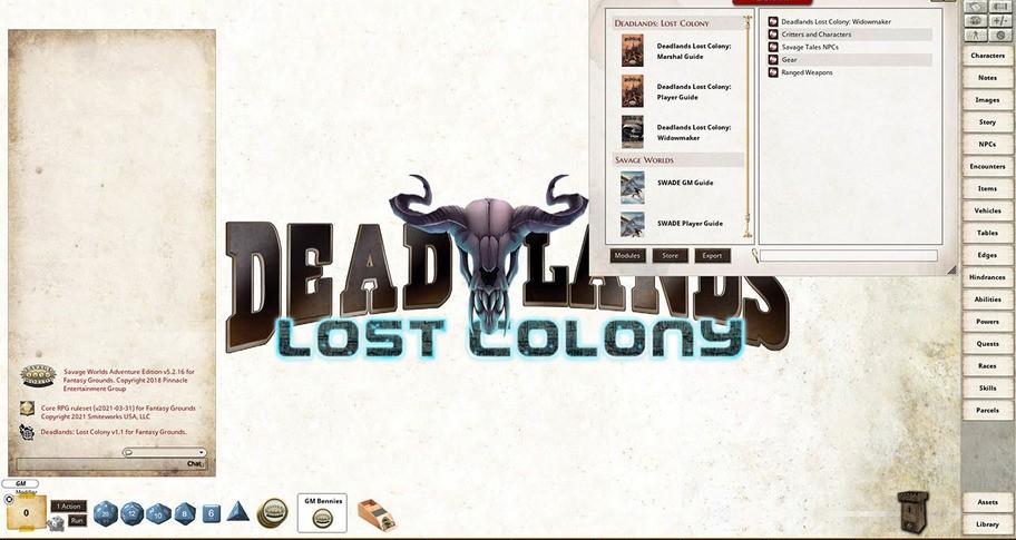 Fantasy Grounds - Deadlands Lost Colony: Widowmaker