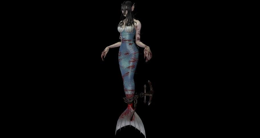 """灵魂筹码 - 河女""""叹望川""""套装 Soul at Stake - """"Lethe Mermaid"""" The Drowner's Outfit"""